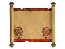 gammal scroll för parchment 3d Fotografering för Bildbyråer
