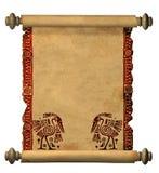 gammal scroll för parchment 3d Royaltyfri Foto