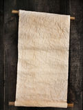 Gammal scroll på trä Royaltyfri Bild