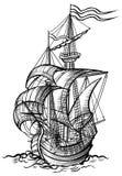 Gammal segelbåt Fotografering för Bildbyråer