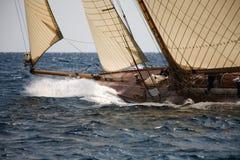 gammal segling för fartyg Arkivbilder
