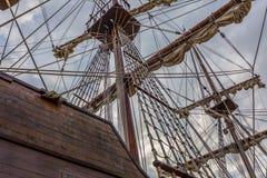 gammal seglingship Arkivfoton