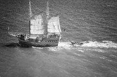 gammal seglingship Royaltyfri Fotografi