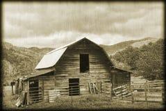 gammal sepia för ladugård royaltyfri fotografi