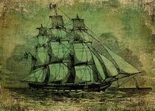 gammal ship Royaltyfri Fotografi