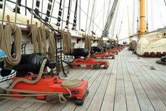 gammal ship för kanon Royaltyfri Fotografi