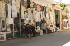gammal shopkeeper för damtoalett royaltyfri foto