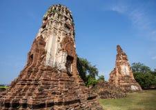 Gammal siam tempel av Ayutthaya Royaltyfri Fotografi