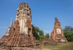 Gammal siam tempel av Ayutthaya Royaltyfria Foton