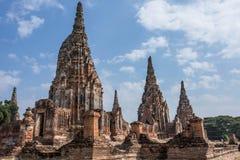 Gammal siam tempel av Ayutthaya Royaltyfria Bilder