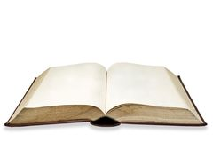 gammal sida för blank bok Arkivfoton