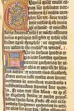 gammal sida för bok Arkivbilder