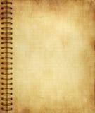 gammal sida för grungeanteckningsbok Royaltyfri Bild