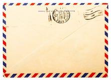 gammal sida för tillbaka kuvert Royaltyfria Bilder