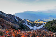 Gammal siden- rutt, siden- handelrutt mellan Indien och Kina, Zuluk (Dzuluk), Sikkim Royaltyfri Fotografi