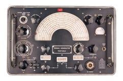 Gammal signalgenerator Fotografering för Bildbyråer