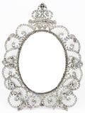 gammal silver för antik ram Royaltyfri Bild