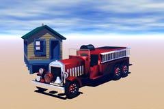 gammal skjullastbil för brand Royaltyfri Fotografi