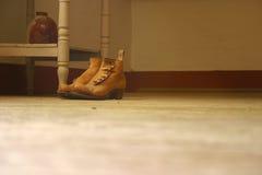 gammal sko Fotografering för Bildbyråer