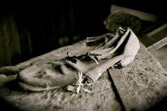 gammal sko arkivfoto