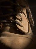 gammal sko för closeup royaltyfri bild