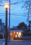 Gammal skola Barber Shop, Petaluma, Kalifornien Royaltyfria Foton