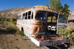 gammal skola för buss Fotografering för Bildbyråer