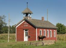 gammal skola för hus Arkivbilder