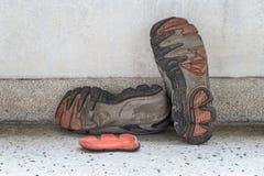 gammal skosport Arkivfoto