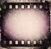 Gammal skrapad filmremsa för Grunge Tappning Royaltyfri Fotografi