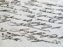 gammal skrift för åldrig bokstav Royaltyfri Fotografi
