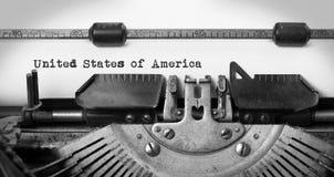 Gammal skrivmaskin - USA Arkivfoto