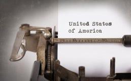 Gammal skrivmaskin - USA Arkivfoton