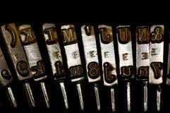 gammal skrivmaskinstappning royaltyfri foto