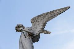 Gammal skulptur för ängel ReÑ oleta, Argentina Royaltyfri Fotografi