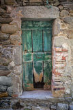 Gammal slitage dörr Arkivfoton