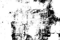 Gammal sliten textur Svart grus på genomskinlig bakgrund Gammal betongvägg stock illustrationer
