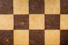 Gammal sliten yttersida av schackbrädet Royaltyfri Fotografi