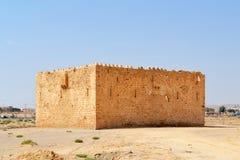 Gammal slott av al-Qatrana Royaltyfri Bild