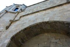 Gammal slott av den Rhodes staden Fotografering för Bildbyråer
