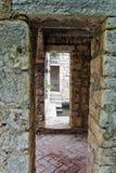 gammal slott för detalj Arkivbilder