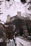 Gammal slott för Hohensalzburg fästning i Salzburg Arkivfoton