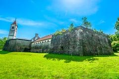 Gammal slott i Cakovec, Kroatien Arkivfoto