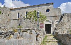 Gammal slott i den gamla stångstaden, Montenegro arkivfoto