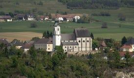 gammal slott i den Wachau dalen Royaltyfria Foton