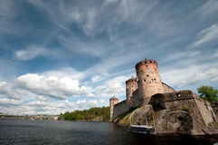 Gammal slott i Finland Royaltyfri Foto