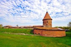 Gammal slott i Kaunas, Litauen. Arkivbild