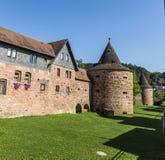 Gammal slott i medeltida stad av Buedingen Fotografering för Bildbyråer