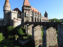 Gammal slott i Rumänien Arkivbild