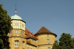 Gammal slott i Stuttgart royaltyfria foton